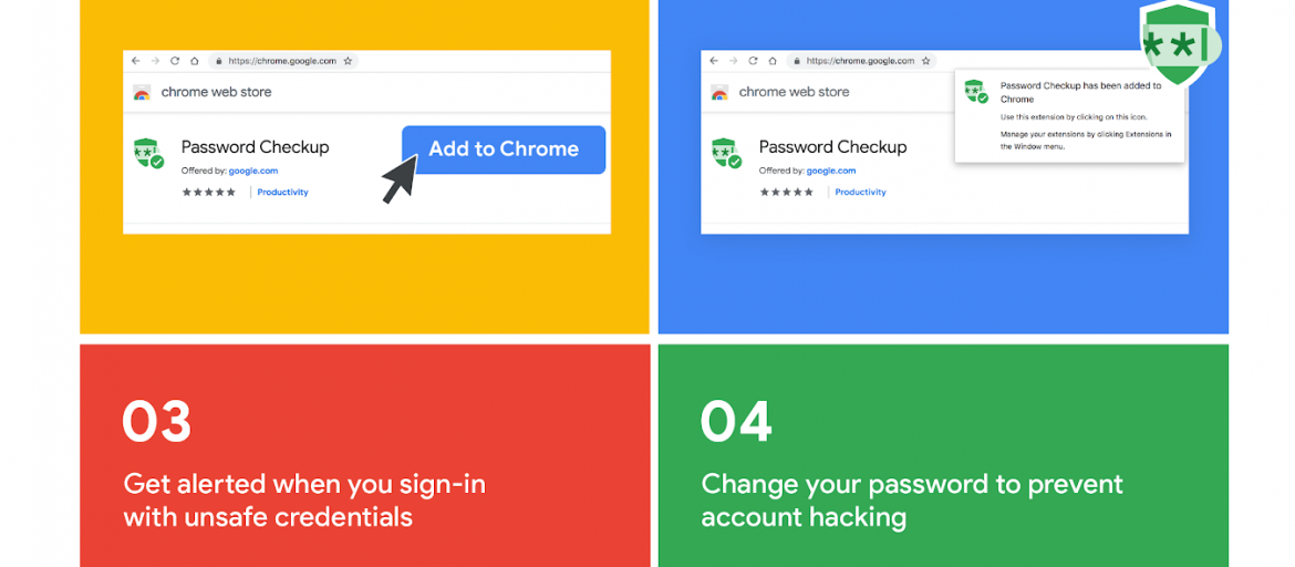 proteggere password con Google